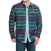Pendleton Surf Agate Beach Jacquard Shirt - Long Sleeve (For Men) in Blue/Red/Yellow Jacquard - Closeouts