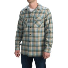 Pendleton Surf Fitted Board Shirt - Long Sleeve (For Men) in Green/Tan/Grey Check - Closeouts