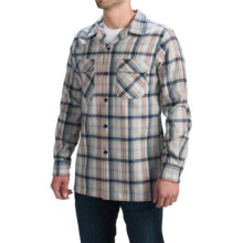 Pendleton Surf Fitted Board Shirt - Long Sleeve (For Men) in Tan/Blue/Coral Plaid - Closeouts