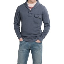 Pendleton Surf Fleece Pullover Shirt - Shawl Collar, Long Sleeve (For Men) in Blue - Closeouts