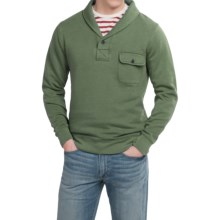 Pendleton Surf Fleece Pullover Shirt - Shawl Collar, Long Sleeve (For Men) in Green Gables - Closeouts