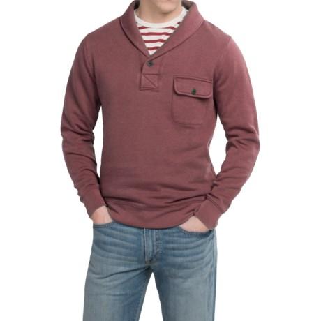 Pendleton Surf Shawl Collar Sweatshirt - Long Sleeve (For Men) in Red