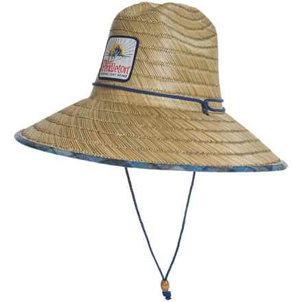 Pendleton Surf Straw Lifeguard Hat (For Men) in Natural/Blue - Closeouts