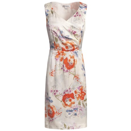 Pendleton Sweetheart Silk Dress - Sleeveless (For Women) in Floral Splash Print