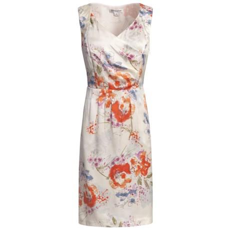 Pendleton Sweetheart Silk Dress - Sleeveless (For Women) in Floral Splash Print