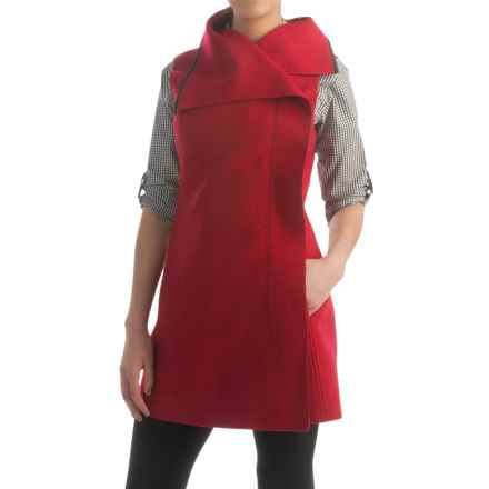 Pendleton Tami Tunic Vest - Boiled Merino Wool (For Women) in Red Rock - Closeouts