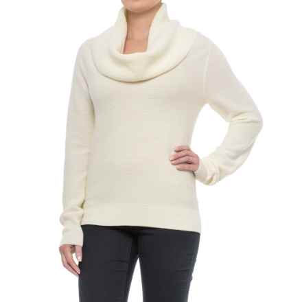 Pendleton Textured Drape Neck Sweater - Merino Wool (For Women) in Ivory - Closeouts