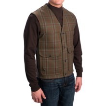 Pendleton Thicket Vest - Wool, Snap Front (For Men) in Green Windowpane - Closeouts