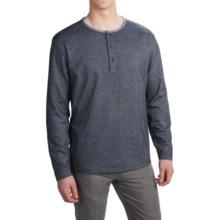 Pendleton Three-Button Henley Shirt - Long Sleeve (For Men) in Light Indigo - Closeouts