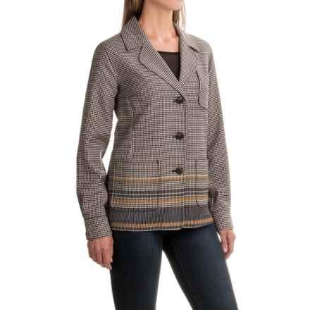 Pendleton Three-Pocket Herringbone Wool Blazer (For Women) in Black/Beige - Closeouts