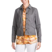 Pendleton Three-Quarter Time Jacket - Stretch Cotton (For Women) in Grey Wash - Closeouts