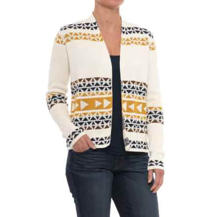 Pendleton Thunder Cardigan Sweater (For Women) in Ivory Multi - Closeouts