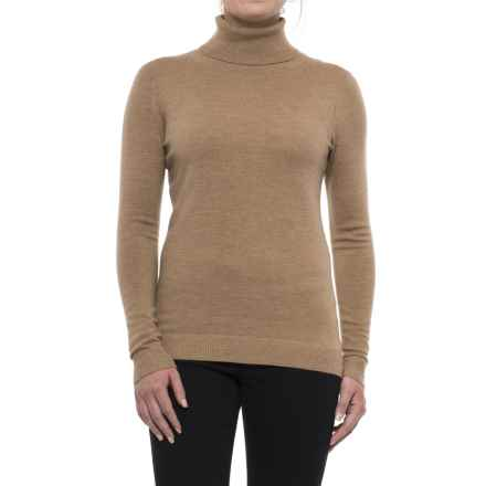Pendleton Timeless Turtleneck Sweater - Merino Wool, Long Sleeve (For Women) in Camel Heather - Closeouts