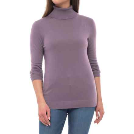 Pendleton Timeless Turtleneck Sweater - Merino Wool, Long Sleeve (For Women) in Grey Violet - Closeouts