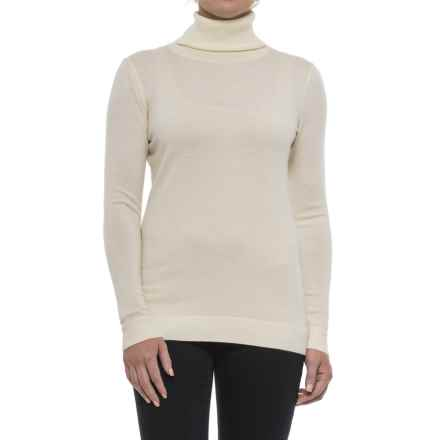 Pendleton Timeless Turtleneck Sweater - Merino Wool, Long Sleeve (For Women) in Ivory - Closeouts