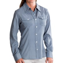 Pendleton Tippi Mini-Dot Blouse - Long Sleeve (For Women) in Blue Ash/Ivory Dot - Closeouts
