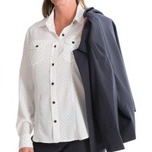 Pendleton Tippi Mini-Dot Blouse - Long Sleeve (For Women) in Ivory/Black Dot - Closeouts