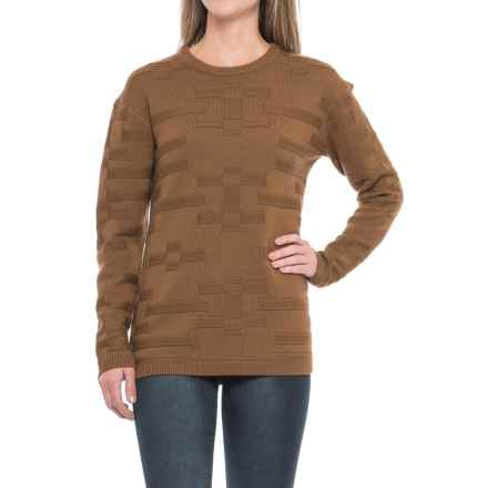 Pendleton Tonal Textured Sweater - Merino Wool, Crew Neck (For Women) in Dachshund - Closeouts