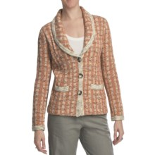 Pendleton Town Tweed Cardigan Sweater (For Plus Size Women) in Burnt Orange Multi - Closeouts