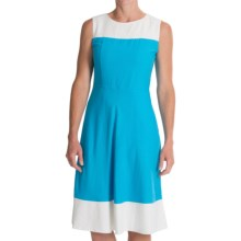 Pendleton Tradewind Color-Block Dress - Linen-Rayon, Sleeveless (For Women) in Carolina Blue - Closeouts