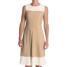 Pendleton Tradewind Color-Block Dress - Linen-Rayon, Sleeveless (For Women) in Oxford Tan - Closeouts