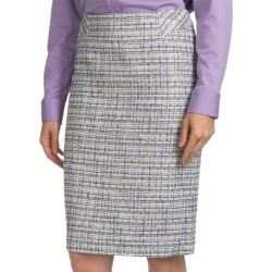 Pendleton Trafalgar Tweed Pencil Skirt (For Women) in Black/Ivory/Wisteria