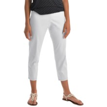 Pendleton Trudy Capris - Stretch Sateen (For Women) in White - Closeouts