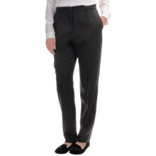 Pendleton True Fit Worsted Wool Flannel Trousers (For Women) in Black - Overstock