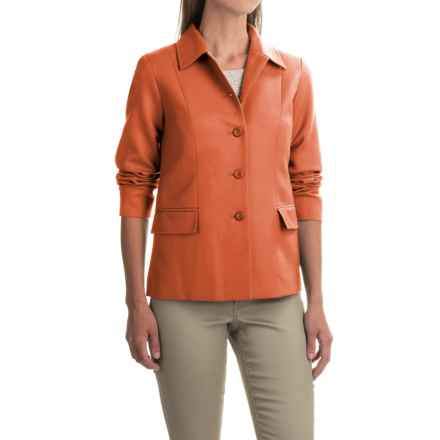 Pendleton Two-Pocket Solid Wool Jacket (For Women) in Orange - Closeouts