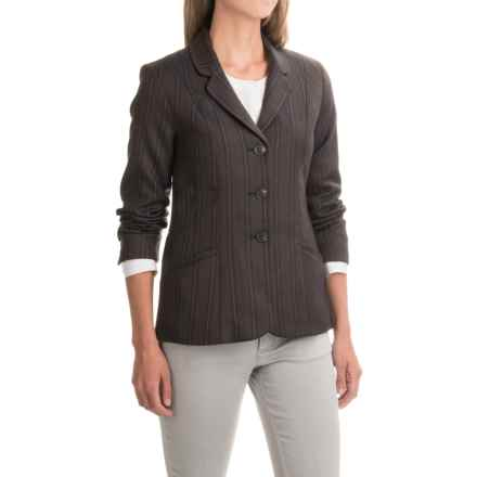 Pendleton Two-Pocket Striped Wool Blazer (For Women) in Brown/Navy - Closeouts