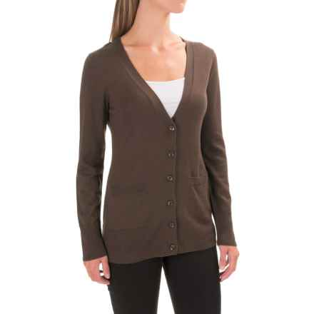 Pendleton Two-Pocket V-Neck Cardigan Sweater - Merino Wool (For Women) in Brown - Closeouts