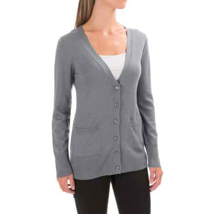 Pendleton Two-Pocket V-Neck Cardigan Sweater - Merino Wool (For Women) in Grey - Closeouts