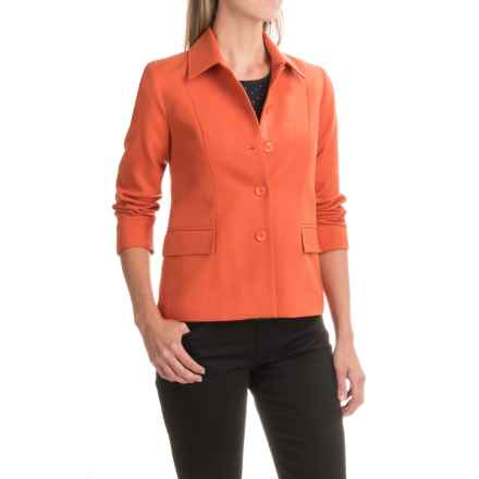 Pendleton Two-Pocket Woven Jacket - Wool (For Women) in Orange - Closeouts