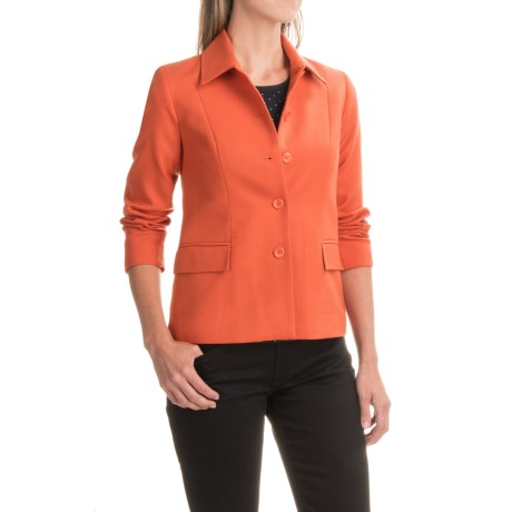 Pendleton Two-Pocket Woven Jacket - Wool (For Women) in Orange