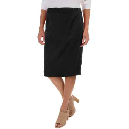 Pendleton Ultra 9 Pencil Skirt - Stretch Worsted Wool (For Women) in Black - Closeouts