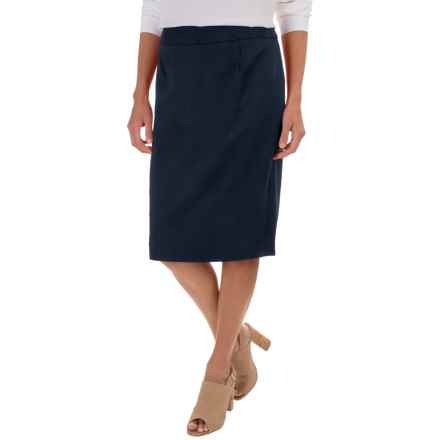 Pendleton Ultra 9 Pencil Skirt - Stretch Worsted Wool (For Women) in Navy - Closeouts