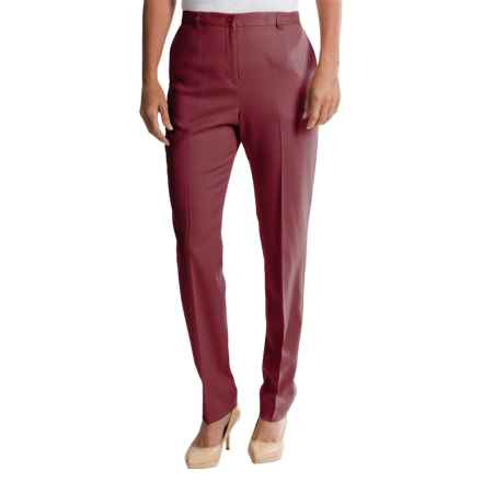 Pendleton Ultra 9 Stretch Wool Trousers - True Fit Slim (For Women) in Burgundy - Closeouts
