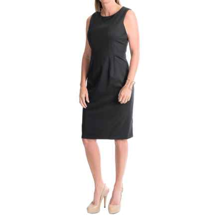 Pendleton Ultra 9 Stretch Wool Twill Sheath Dress - Sleeveless (For Women) in Black Ultra 9 - Closeouts