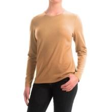 Pendleton Ultralight Merino Wool Sweater - Jewel Neck (For Women) in Camel - Closeouts