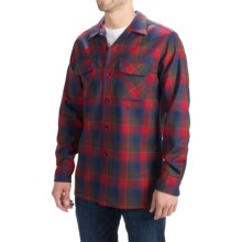 Pendleton Umatilla Wool Shirt - Fitted, Long Sleeve (For Men) in Red/Brown/Navy Ombre - Closeouts
