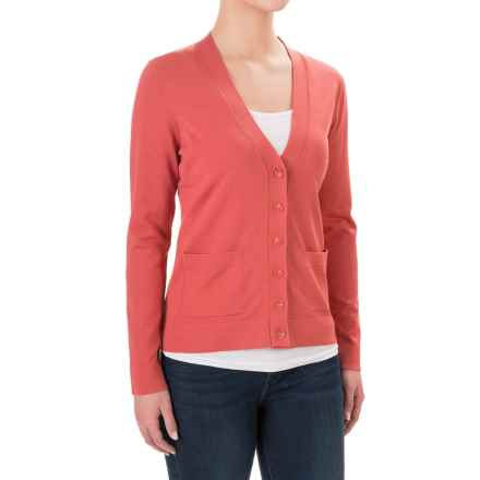 Pendleton V-Neck Cardigan Sweater (For Women) in Orange - Closeouts