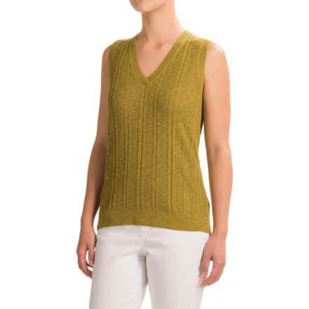 Pendleton V-Neck Sweater Vest (For Women) in Moss Green - Closeouts