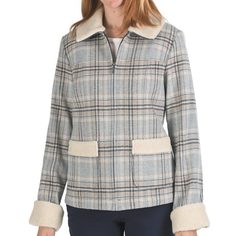Pendleton Vanessa  Wool Coat - Quilted Insulation (For Women) in Grey Mix