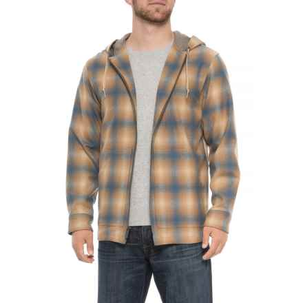 Pendleton Virgin Wool Hoodie (For Men) in Tan/Blue Ombre - Overstock