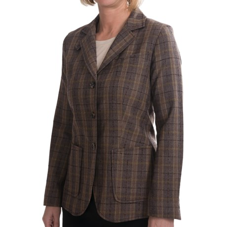 Pendleton Virgin Wool Jacket - Elbow Patches (For Women) in Mink