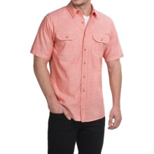 Pendleton Warren Chambray Shirt - Cotton, Short Sleeve (For Men) in Coral - Closeouts