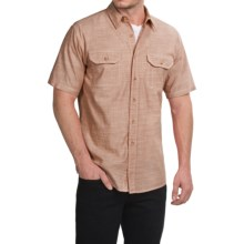 Pendleton Warren Chambray Shirt - Cotton, Short Sleeve (For Men) in Rust - Closeouts