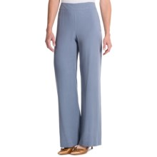 Pendleton Washed Silk Summer Palazzo Pants (For Women) in Blue Ash - Closeouts