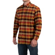 Pendleton Wayne Corduroy Shirt - Button Front, Long Sleeve (For Men) in Tan/Rust/Navy Check - Closeouts
