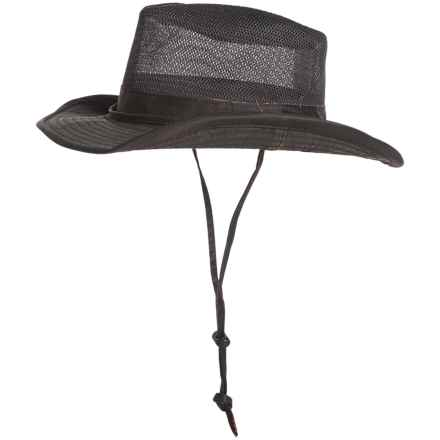 Pendleton Weathered-Cotton Mesh Outback Hat - UPF 50+ (For Men) in Tobacco - Closeouts